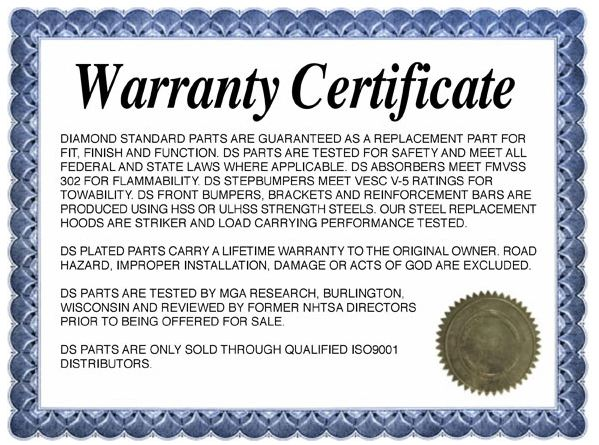 we offer the best warranty in the business
